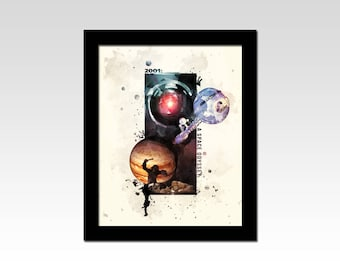 2001: A Space Odyssey inspired abstract print