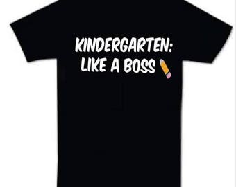Like a boss back to school shirt