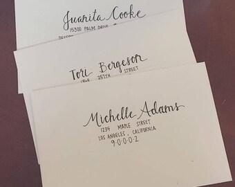 Hand Addressed Envelopes for Wedding or Event *Set of 25*
