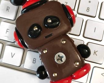Handmade Polymer Clay Robot Figure Toy