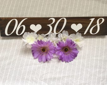 Wedding date sign|Save the date|Engagement sign|Wedding photography prop|Rustic wedding decor