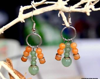 Natural aventurine earrings
