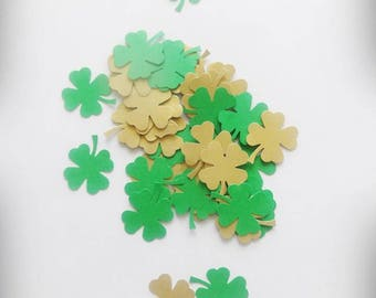Clover Confetti, Shamrock Confetti, St Patricks Day Decor, St Patricks Day Confetti, Clover Decor, Clover Party, Irish Wedding Decorations