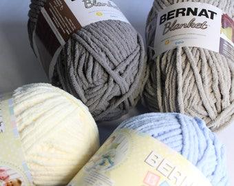 Bernat Blanket and Baby Blanket Yarn - Super Bulky Chenille Type Yarn - Big Ball 300g