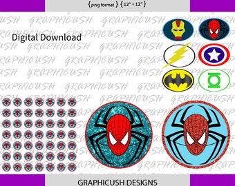 spider men png 5 files super hero boys 12'x12' GRAPHICUSH
