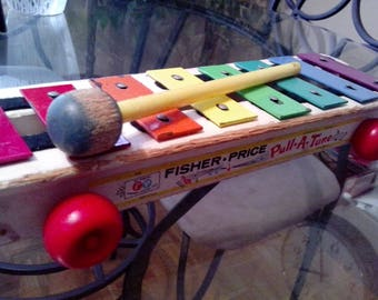 Fisher Price Pull-a-Tune xylophone from 1964.