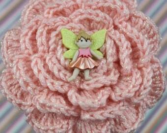 So Fairy Sweet Crochet Flower Headband