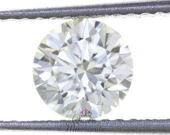 Fancy 0.48 Carat Brilliant Round Cut Awesome White Color For Ring Moissnaite