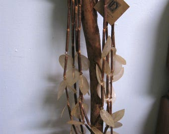 long  leaf bead necklace