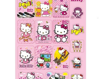 NEW 17pcslot lovely cartoon Pink Hello Kitty DIY Stickers