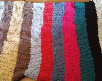 Fuzzy Hand Knitt Quilt