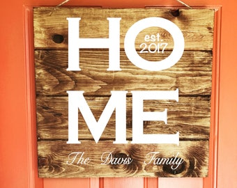 Personalized Home Sign | wedding gift | housewarming gift | custom made