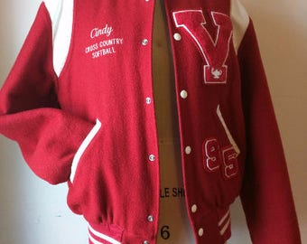 Vintage Vicksburg bulldogs Letterman's Jacket V 90's does 50's Letterman Rockabilly College Varsity Jacket