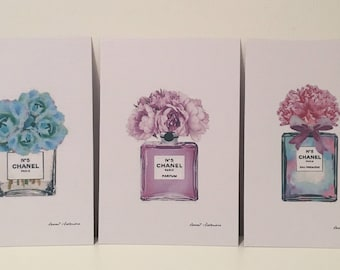 Chanel Bottle prints variety