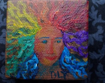 You Don't Know Who I Am - Original Miniature Acrylic Painting