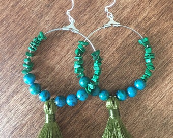 Handmade tassel earrings