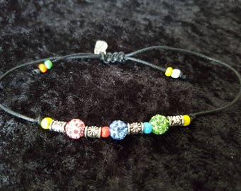 Shambala beaded Anklet