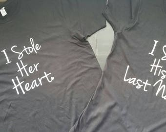 He Stole My Heart Matching Shirts