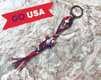 Knotted key fob- USA