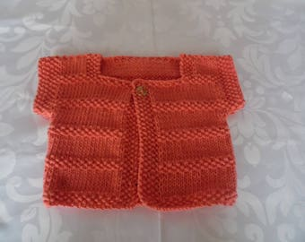 Color apricot 3 month size baby Cardigan