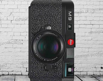 Leica M9 Vintage Photo Camera Faux Leather Phone Case