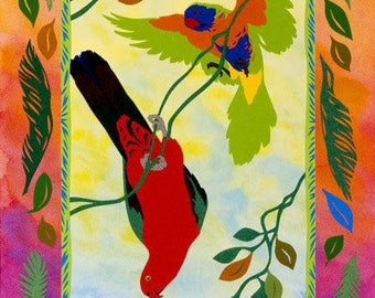 Canopy, Archival Quality Print, Australian Bird Collage