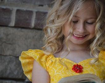Belle Beauty and the Beast inspired sundress