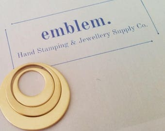 Hand Stamping Blanks Gold Fill - Offset Washer set of 3
