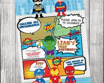 Superhero Inspired Invitation