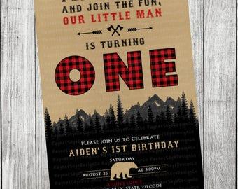 Lumberjack Invitation