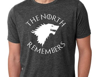 "Game Of Thrones ""The North Remembers"" Mens T-Shirt"