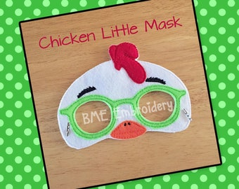Chicken Little Felt Mask- Child's Dress Up and Imaginary Play- Birthday Party Favor-Photo Shoot-Pretend Play-Theme Party