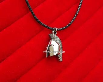 King Leonidas Helmet Necklace Pendant