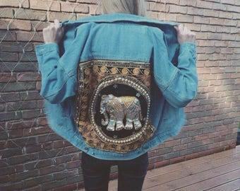 Bespoke Handmade Embroidered Denim Jacket