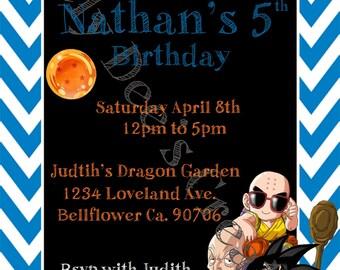 Dragon Ball Z Birthday Invitation,