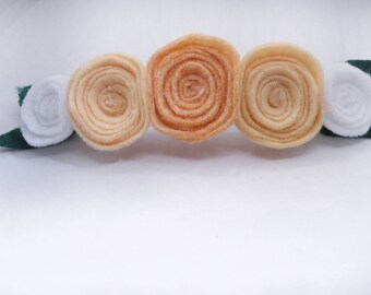Rosette flower felt headband