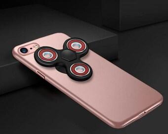 Slim Rose Gold Fidget Spinner Hard Case / iPhone 7