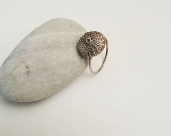 Handmade Sterling Silver Ring Sea Urchin