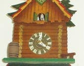 Vintage Unusual Black Forest Cuckoo Clock (Kuckucksuhr), German made, One-Day movement, Beautifully Reconditioned