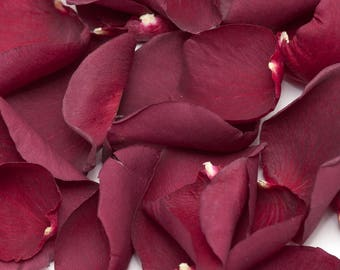 Burgundy roses freeze dried petals for wedding/decoration