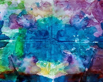 Abstract watercolor painting by child, living room, bedroom, colors, abstract, amazing, sky