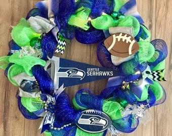Seattle Seahawks  LED Wreath