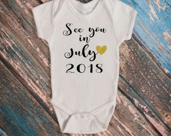 See You In (Month) Baby Announcement