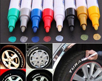 Permanent 12 Colors Waterproof Paint Marker Pen ,Car Tire,Tread Rubber  ,doodling, comics, Manga, illustration, calligraphy, crafts