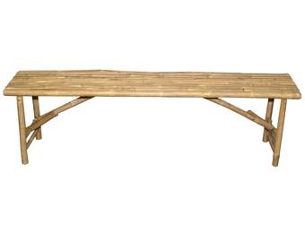 Long Folding Bamboo Bench - Outdoor and Garden Furniture