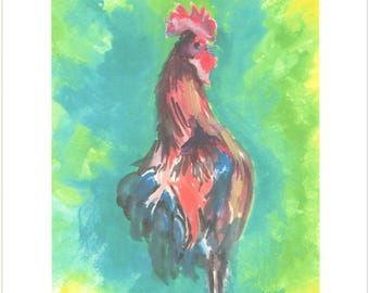 Key West Rooster print