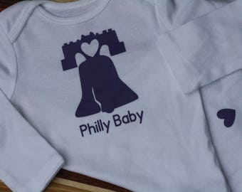 Philly Baby Long Sleeve Onesie - 6-12 months