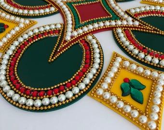 Kundan rangoli#festiveseason#gifting