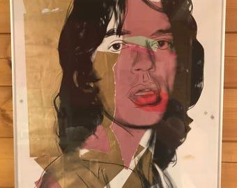 "Seriegrafie Andy Warhol ""Mick Jagger"""