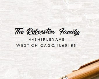 Custom Family Stamp, Personalized Address Stamp, Custom Address Stamp, Return Address Stamp, Custom Stamp, Wedding Stamp, Rubber Stamp (S30)